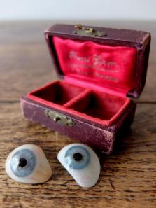 Prosthetic Glass Eyes with Case (2 pcs) (D0518-01)
