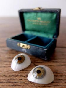 Prosthetic Glass Eyes with Case (2 pcs) (D0518-02)