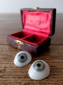 Prosthetic Glass Eyes with Case (2 pcs) (D0518-03)