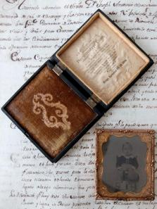 Daguerreotype Picture with Case (B0418)