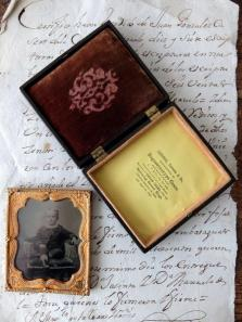 Daguerreotype Picture with Case (A0417)