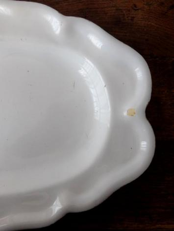 Moustiers White Plate (B0419)