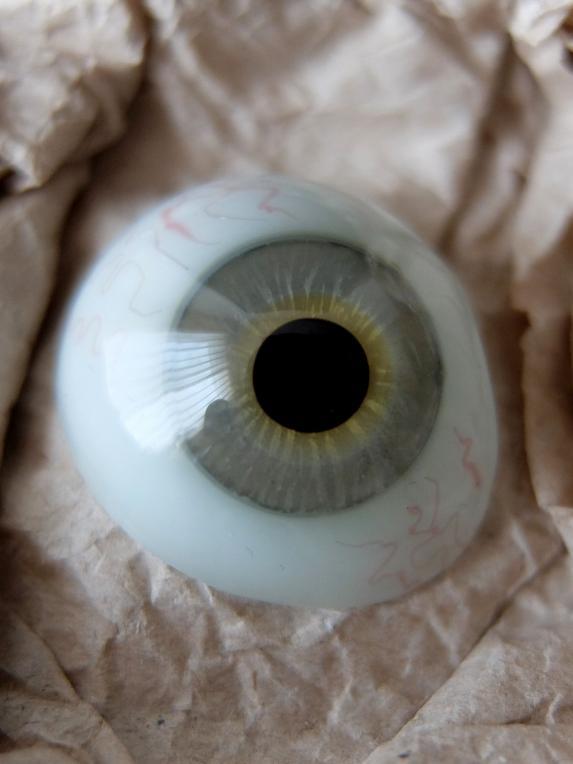 prosthetic glass eye with box b0417 フランスアンティーク家具