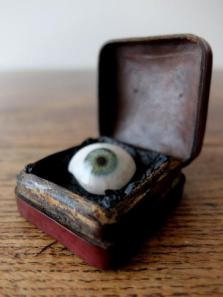 Prosthetic Glass Eye with Box (A0617-01)