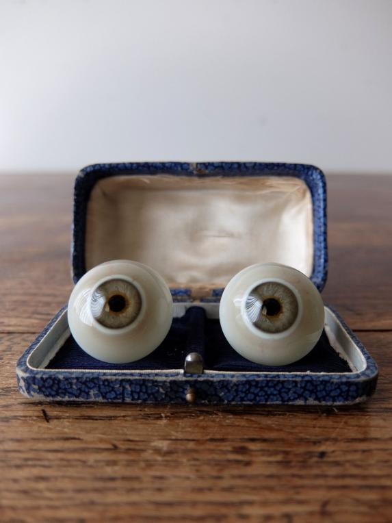 Prosthetic Glass Eyes with Case (2 pcs) (F0518-02)