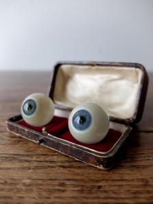 Prosthetic Glass Eyes with Case (2 pcs) (F0518-99)