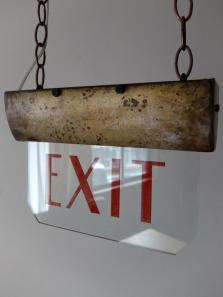 "'Theater Lamp ""EXIT"" (A0920)"