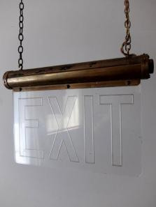 "Theater Lamp ""EXIT"" (A1018)"