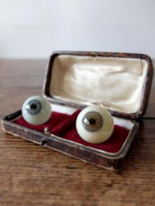 Prosthetic Eyes with Case (2 pcs) (F0518-01)