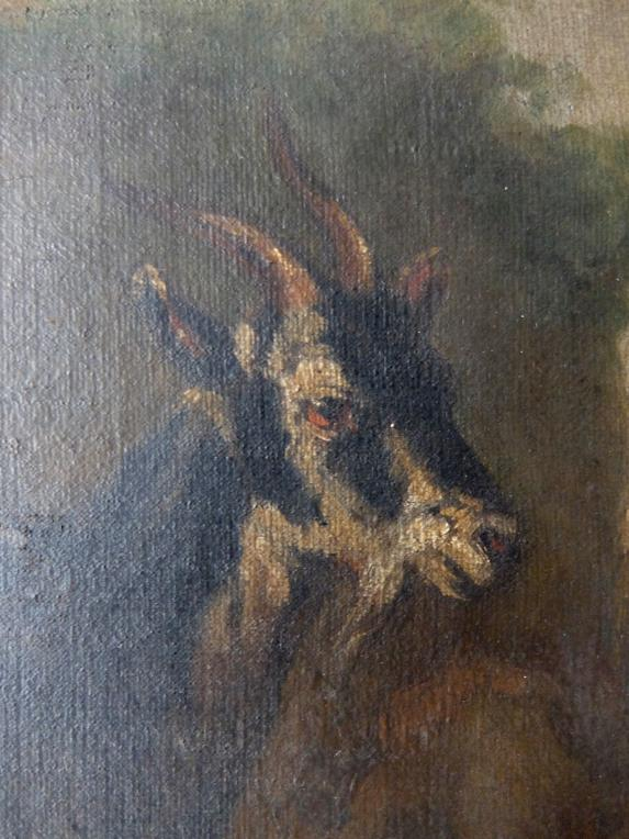 Oil Painting 【Goat】 (A1017)