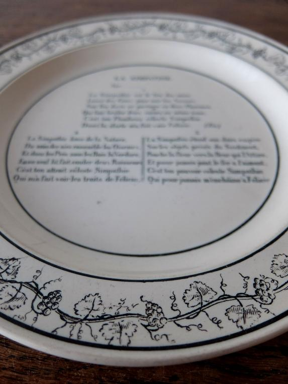 Montereau Grisaille Plate (A1019-04)